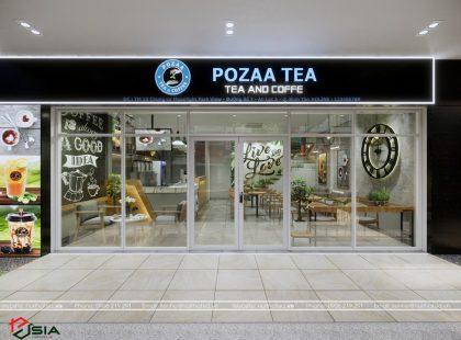 Thiết kế và thi công quán trà – coffee POZZA TEA