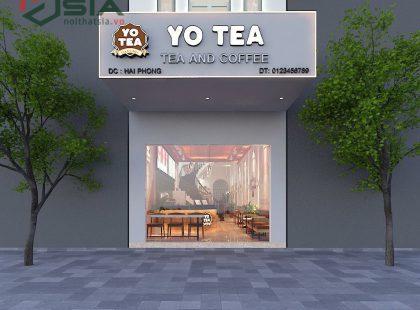 Thiết kế quán Cafe, trà Yotea tại Hải Phòng